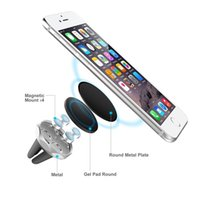 Wholesale Head Magnets - Universal Magnets Bracket Cell Phone Car Mount Holders with Metal Alloy 360 Rotation Swivel Head Cell Phone Holders for Smartphones GPS CZ02