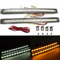 2017 Brand New 2X LED Car White Amber Daytime Running DRL Indicateur de signalisation de clignotement
