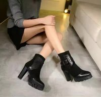 black box wine price - 2017 Hot Sale With Box Fashionable Price Top Brand Boots Shoes Black Gray Wine Women Shoes New Arrival Out Store