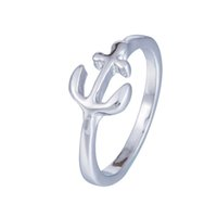 Wholesale Viking Jewelry Small Anchor Ring Female Fashion Cute Ladies Love Finger Rings Silver Plated For Women Rings Fashion