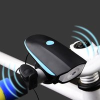 Wholesale Bright Horn - High Quality Mountain Bike Electric Horn Bell Bicycle Light Super Bright Headlights Vocal USB Charging Night Riding Cycling