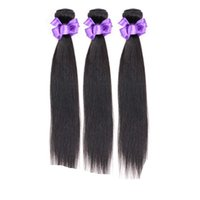 Wholesale Real Hair Extensions 24 Inches - Brazilian Real Human Hair Weave Bundles Unprocessed Virgin Brazillian Straight Human Hair Extensions Soft Full Free Shipping