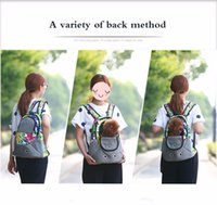 Pet Carrier Shoulders Back Front Pack Dog Cat Travel Bag Mesh Backpack Head out Design Travel Correia de ombro ajustável