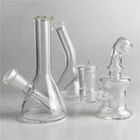 ingrosso olio di vetro bong 14mm-Nuovo 10mm 14mm femmina mini tubi di vetro Bong acqua Pyrex Oil Rigs Bong di vetro di spessore Recycler Oil Rig per fumatori
