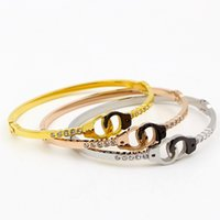 Wholesale Hollow Cuff Bracelet - 2017 Fashion Designer hollow out Jewelry Elegent stainless steel Cuff Bracelet Bangles Statement Jewelry Fashion Bangle For Women