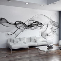 Wholesale Photo Wallpaper Wholesale - Wholesale- Custom 3D photo wallpaper Smoke clouds abstract artistic wall paper modern minimalist bedroom sofa TV wall mural paper painting