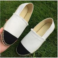 zapatos de tela de dama al por mayor-Nuevas mujeres Zapatos de lona casuales Alpargatas de primavera Mujer Zapatos de tela de alta calidad Zapatos de moda para caminar Zapatillas de lona de dos tonos Lady 88