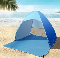 Wholesale Tents For Fishing - Automatic Open Tent Family Tourist Fish Camping Anti-UV Fully Sun Shade Hiking Camping Family Tents For 2-3 Person