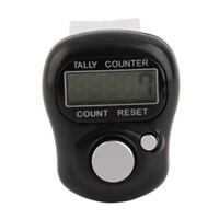 Vente en gros - Mini digit LCD Electronic Digital Golf Finger Hand Held Tally Row Counter Noir Haute qualité Chaud