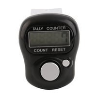 Wholesale Row Counter Electronic - Wholesale- Mini Digit LCD Electronic Digital Golf Finger Hand Held Tally Row Counter Black High Quality Hot