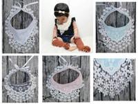 pamuklu tığ işi dantel toptan satış-Bebek Kız Prenses Dantel Tığ Işi Önlükler Bebek Tulumları tpu Su Geçirmez Önlükler Bebek Pamuk Baskı Burp Bezleri