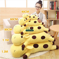 Dorimytrader 130cm Large Lovely Soft Animal Giraffe Oreiller en peluche 51 '' Giant Stuffed Cartoon Giraffes Toy Baby Doll Children Gift DY60031