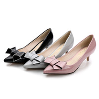 Wholesale Womens Size Small - 2017 Spring Summer new Womens Middle high heel sandals Fashion comfortable 5cm Pointed toe dress shoes kitten heel small size 33 three style