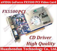 Wholesale Vga Ddr Card - Wholesale- Free Shipping 100% NEW nVIDIA GeForce FX5500 PCI 256MB 128bit DDR VGA DVI PCI Video Card