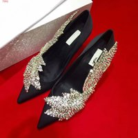 Wholesale Top Brand Ladies Pumps - New Arrival lady Pumps With top quality Stiletto heel Dress shoes Luxury Brand genuine leather high heel fashion glitter party wedding shoes