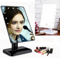 Wholesale Stand Up Mirrors - Beauty Cosmetic Make Up lamp Illuminated Desktop Stand Mirror With 20 LED Light With Exquisite And Elegant Appearance Hot Selling