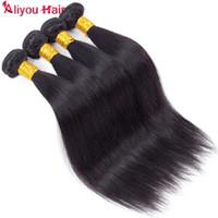 Wholesale top beauty brazilian hair resale online - Top Top Quality Straight Brazilian Hair Bundles Double Weft Human Hair Extensions Weave Bundle Deals Price Just for Miss Beauty