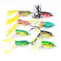 приманки для ловушек оптовых-Рыболовные снасти искусственный Луч лягушка бас песка приманки для пресноводной рыбалки 13.5 г 6 см Topwater мягкие приманки