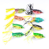 Wholesale bait topwater - Fishing Tackle Artificial Ray Frog Bass Pesca Lure For Freshwater Fishing g cm Topwater Soft Baits
