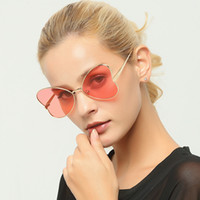 Wholesale Colourful Glasses Frames - New Fashion Retro Butterfly Sunglasses Metal Frame Colourful Clear Lens Available UV400 Sun Glasses for Womens and mens 1974