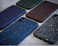 Wholesale Iphone Case Bling Starry - 3D Ultra Thin Bling Fluorescence Stars Starry Sky Flowing Frosted Visual Effect Hard PC Shockproof Cover Case For iPhone X 8 7 Plus 6 6S