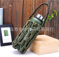 Wholesale Knitted Bottle Cover - Cup Protective Cover Hand Knit Suspension Line Water Bottles Handle Camping Covers Cases Practical Mugs Sleeves 6 8qa R