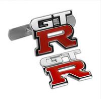 insignias del coche del emblema de nissan al por mayor-Insignia del emblema del coche de GTR Metal Chrome 3D Etiqueta engomada del coche de GTR Parrilla del emblema del coche del emblema del metal Para nissan gtr