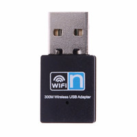 Wholesale Vista Wireless Network - Wholesale- Wireless Adapter 300Mbps Mini USB Wifi Wireless Adapter 802.11 B G N Network Card LAN Dongle for Windows XP Vista Win7 Mac Linux