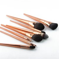 Wholesale high end brushes for sale - Group buy Anmor High End Synthetic Hair Makeup Brushes Set Rose Gold Cosmetic Brushes Make Up Kit Th001