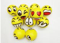 emotionales gesicht großhandel-BFAA52 QQ Ausdruck Weihnachtsfeier FUN Emoji Gesicht Squeeze Balls Stress Entspannen Emotionale Spielzeugkugeln Spaß Büro Urlaub Geschenk Stocking Stuffer