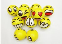 ingrosso faccia emotiva-BFAA52 QQ Expression Christmas party DIVERTIMENTO Emoji Face Spremere palline Sforzo Relax Emotional Toy Balls Fun Office Holiday Gift Stocking Stuffer