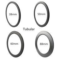 Wholesale 88mm Carbon Rims - Carbon Wheels 700C Carbon+Ti+Basalt 30mm 38mm 44mm 50mm 60mm 88mm Depth 23mm Bicycle Bike Rims Carbon Rims 3K UD Glossy Matt