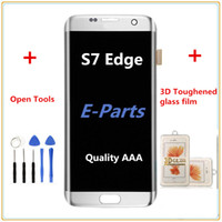 digitalizador lcd s6 edge al por mayor-1 Unids Para Samsung Galaxy S7 Edge G935 G935F G935FD G935P Lcd Digitalizador Pantalla Pantalla de visualización + S7 3D película de vidrio templado + Herramientas