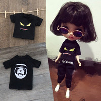 Wholesale Birth Cool - Fashion Cool Sports Handmade T-shirt Doll Clothes Accessories For 1 6 BJD Blyth Azone Licca Dolls Accessories