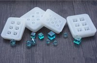 Wholesale Epoxy Craft Squares - New Arrivals Crystal Ball & Cube Square Silicon Mold For Make Crystal Bead 6 Hanging Holes Mold DIY Epoxy Jewelry Crystals Crafts