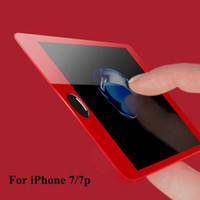 Wholesale Seamless Screen - Genuien quality Red for Iphone 7 Screen Protector 3D Surface Full Cover Tempered Glass for Iphone 7plus Seamless Covering Anti Glare