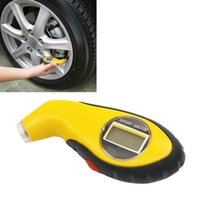 Wholesale pressure gauge tester - Diagnostic Tools tire pressure gauge Meter Manometer Barometers Tester Digital LCD Tyre Air For Auto Car Motorcycle Wheel New