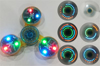 Wholesale Led Turn Chrome - Chrome LED Light Switch Spinner Fidget Bat Metal Toys Turn on and OFF Upgrads ADD Press Switch Flashing 3 Model Colors Hand Spinner Toy