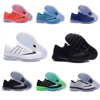 Wholesale Black Cushioned High Tops - TOP High quality 2016 Air Men Running Shoes Cushion Surface Breathable Fly line Sports shoes Retro Sneakers size 7-10 Free shipping