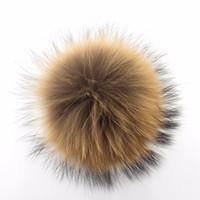 Wholesale Hat Shoes - Fashion Accessories Copy Raccoon Rabbit fur Fox fur pom poms ball Soft Fur Ball 9-10cm hat winter hats for shoes bags cap accessories