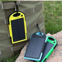 Wholesale High Capacity Portable Charger - Solar power bank powerbank Charger 5000mah battery Universal Portable power bank High-Capacity External Sun solar charger