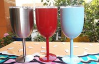 Wholesale End Clamps - Creative 304 stainless steel 500ml red wine glass, high-end goblet ,Various colors are optional, DHL is free shipping