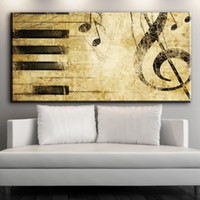 Wholesale Music Notes Painting - ZZ627 modern decorative canvas art abstract music note canvas oil art painting wall pictures for livingroom bedroom decoration