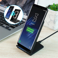 Wholesale I Note Phone Charger - QI Wireless Charger For Samsung Galaxy S8 Plus s6 s7 note 8 Phone Wireless Charging For i Phone 8 x 5V2A Universal USB