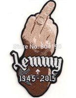 """Wholesale Band Motorhead - 5"""" LEMMY Kilmister FINGER Patch Tribute Motorhead ace of spades Music Band Embroidered sew IRON On APPLIQUE Rock Punk Badge"""