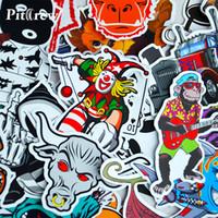 etiqueta de carro de estilos graffiti venda por atacado-100 Estilo Do Carro JDM decalque Adesivos para Tampas Do Carro Graffiti Skate Snowboard Da Motocicleta Bicicleta Laptop Adesivo Bomba Acessórios