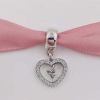 sterling glocken armband großhandel-Frühling 925 Sterling Silber Perlen Liebe basteln Glocke Passt Europäische Pandora Style Schmuck Armbänder Halskette