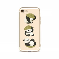 paint bumper cover - 2017 New Panda Painting iphone Case Technology Bumper Soft Clear TPU Cover Case for iPhone Plus Impact Resistant Protective Covers