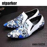 Wholesale Night Artists - Italian Style Brand Designer's Shoes Pointed Toe Artist Men's Dress Shoes Rock Party Night Club Wedding Shoes MEN!