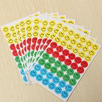 Wholesale Smiley Diary - Wholesale- 10 sheets lot Children Kids Mixed Cartoon Smiley Faces Diary Planner Stickers School Teacher Merit Praise Reward Decor Lable